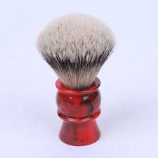Yaqi 24MM Red Marble Silvertip Badger Shaving Brush Density Hair Men's