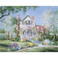 Romantic Garden DIY Paint By Numbers Kit Digital Oil Painting Canvas Home Decor