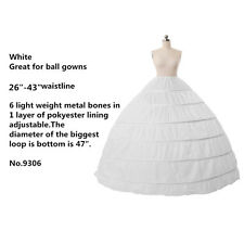 Six Hoops Big Petticoat Princess Bridal Dress Crinoline Underskirt Formal Skirt