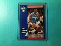Larry Johnson 1991 Fleer Basketball Rookie Card #255 Charlotte Hornets
