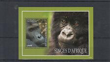 Togo 2014 MNH Apes of Africa 1v S/S Gorillas Monkeys Wild Animals Singes
