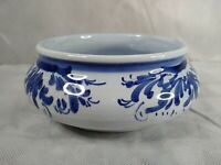 Portuguese Pottery Bowl ceramic blue and white 17cm Diameter