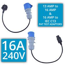 16 Amp 240 V PAT test schede di rete 13 AMP A 16 Amp & 16 amp spina di IEC C13 Set