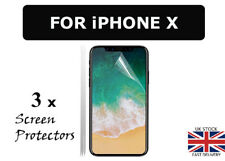 3 x Clear Plastic Screen Guard LCD Screen Protector For New Apple iPhone X Ten x