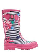 Joules Junior Girls Wellies - Stylish Patterned Wellington Boots