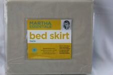 """New Martha Stewart Collection Essentials TWIN BEDSKIRT TAUPE TAN Solid 16"""" Drop"""
