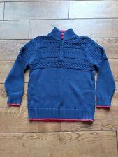 Fabulous Boys Half-Zip Jumper, MINI BODEN, 6-7 Years, Navy Knit, BNWOT