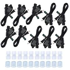 Delight® 10 Pack Power Cord Connector Round Splicer End Cap for Led Rope Light