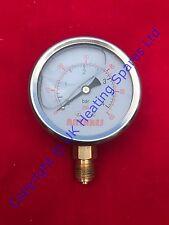 Universal Glycerine Filled Radial Pressure Gauge 63MM Diameter 0-4 Bar Pressure