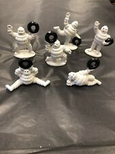 6 Small Michelin Men Cast Iron Man Figurines with Tyres