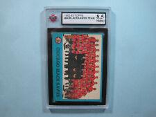 1962/63 TOPPS NHL HOCKEY CARD #44 CHICAGO BLACK HAWKS TEAM PHOTO KSA 8.5 NM/MT+