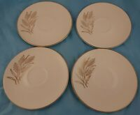 Set of 4 Saucers Wheat Pattern Unmarked Vintage Dinnerware China
