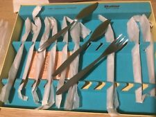 VINTAGE Butler SHEFFIELD PESCE INOX Set 6 forchette e 6 COLTELLI/in Scatola inutilizzato
