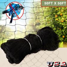 Anti Bird Netting 50'X50' 600D Nylon Soccer Baseball Poultry Aviary Game Pens Us