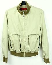 HUGO BOSS Bas Mens S Beige Bomber Jacket Cotton Full Zip Up Coat Lightweight top