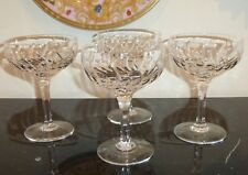 "STUART CRYSTAL CONTESSA 5 3/4"" TALL CHAMPAGNE SHERBET GLASSES SET OF 4"