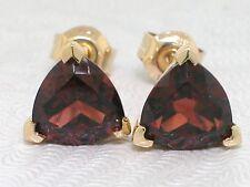 Granat Ohrstecker 585 Gelbgold 14Kt Gold natürliche Granate