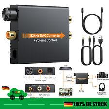 Digital zu Analog Audio Konverter Wandler Optisch Toslink Koaxial RCA L/R 3.5mm