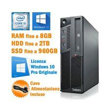 PC DESKTOP COMPUTER FISSO LENOVO THINKCENTRE M90P SFF i5 660 WINDOWS 10 PRO-