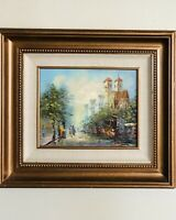 PG Tiele Original Oil Painting on Canvas Framed Oil Painting Street Scene.