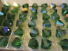 4 Boxes 48 Vint Swarovski Green Turmaline AB  10mm Full Box  Beads ART 5301