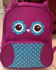 NEW Gymboree ~ 2014-15 Purple Owl Junior Backpack ~ Adorable ~ Bag