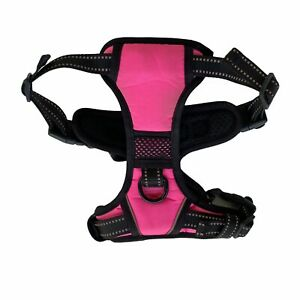 PoyPet Small Pink No Pull Dog Harness Adjustable Reflective Vest