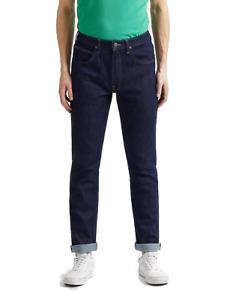 Lee Jeans Homme Brooklyn Straight - Coupe Régulière Bleu Rinser W30- W48 Coton
