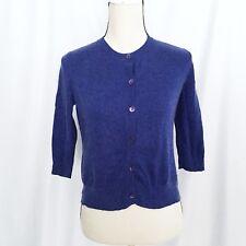 Eileen Fisher women's blue cardigan size XS organic cotton cashmere blend