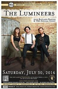 THE LUMINEERS /RAYLAND BAXTER 2016 NEW YORK CONCERT TOUR POSTER-Indie Folk Music