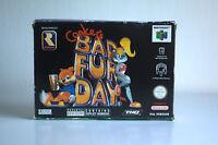 CONKER'S BAD FUR DAY sur Nintendo 64 (N64) PAL, COMPLET avec boîte et notice