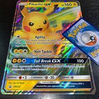 POKEMON JUMBO PIKACHU GX SM232 OVERSIZED PROMO CARD FULL ART HOLO (BRAND NEW)