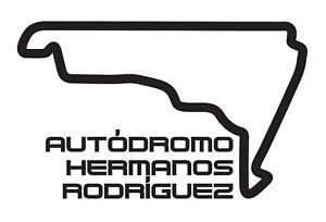 AUTîDROMO HERMANOS RODRIGUEZ Car vinyl sticker F1 MEXICAN Grand Prix Formula One
