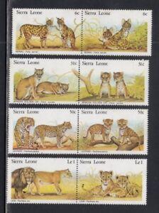 SIERRA LEONE Serval Cats, Golden Cats, Leopards & Lions CATS MNH set