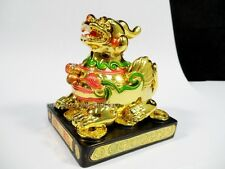 Gold Chinese Oriental Feng Shui Lucky Money Lion Dragon PIXIU PIYAO Protection
