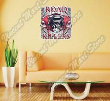 "Road Killers Biker Chopper Skull Gift Idea Wall Sticker Room Interior Decor 22"""