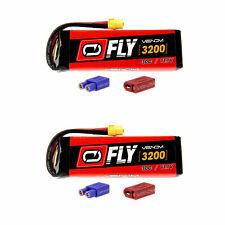 Venom Fly 30C 3S 3200mAh 11.1V LiPo Battery with UNI 2.0 Plug x2 Packs