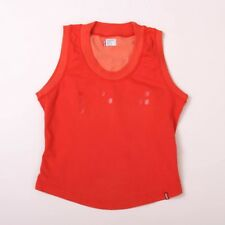 Levis Jeans Girls Sleeveless Burnt Orange Stretch Cotton Top 10 Years .