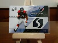 2004 Upper Deck SPx Domanick Davis Swatch Supremacy RC Texans Jersey SW-DD