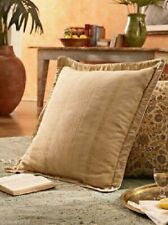 2 Ralph Lauren MARRAKESH JACQUARD Tan Euro Pillow Shams $370 NIP