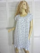 NWT EILEEN WEST NIGHTGOWN SMALL BLUE/WHITE FLORAL LINGERIE MODAL COTTON KNIT