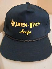 Vintage Kleen Tech Soaps Snapback Baseball Cap Blue