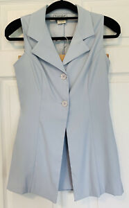 Vintage Breakin' Loose Junior's 9/10 Long Line Sleeveless Blouse Top & Skirt