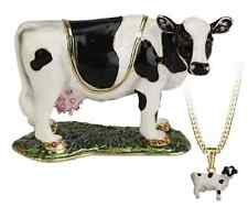 Secrets Hidden Treasures Cow Animal Pewter Trinket Box and Pendant 1053 RRP£33