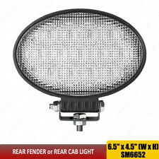 "6.5"" LED Work Lights 65W Oval Hood Cab Mount Flood Beam Tractor lights 12V x1pc"