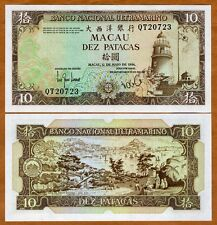 Macao / Macau 10 Patacas, 1984, P-59 (59d), BNU, QT-Prefix UNC