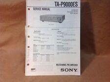 Genuine Sony TA-P9000ES Multichannel Pre Amplifier Service Manual - Lower Price!