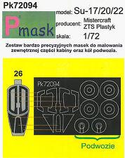 SU-17/20/22 PAINTING MASK TO AKKURA, MISTERCRAFT, PLASTYK #72094 1/72 PMASK