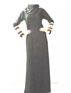 Reduced: SIMPLY BLACK Abaya Borka Muslim Women islamic Wear Ladies long sleeve