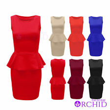 Polyester Petite Dresses without Pattern for Women